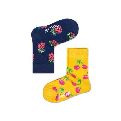 Detské farebné ponožky Happy Socks, dva páry – Pineapple a Cherry
