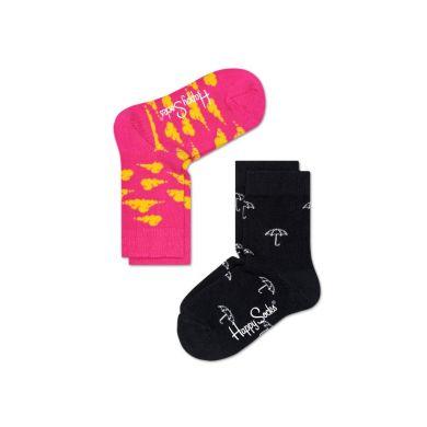 Detské farebné ponožky Happy Socks, dva páry – Umbrella a Clouds