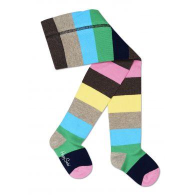 Dětské barevné punčocháče Happy Socks s pruhy, vzor Stripe