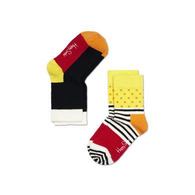 Dětské barevné ponožky Happy Socks, dva páry - Five Color a káry