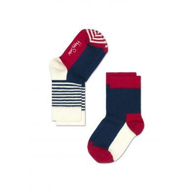 Dětské barevné ponožky Happy Socks, dva páry - Five Color a proužky