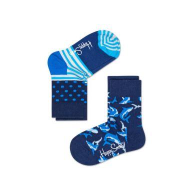 Detské farebné ponožky Happy Socks, dva páry - Stripe Dot a Dolphin