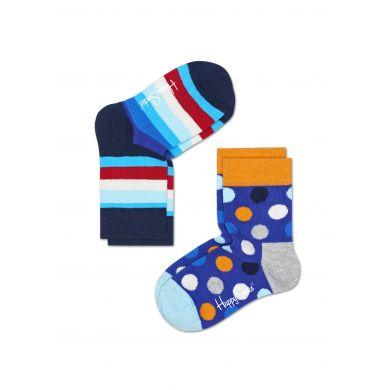 Dětské barevné ponožky Happy Socks, dva páry - Stripe a Dot