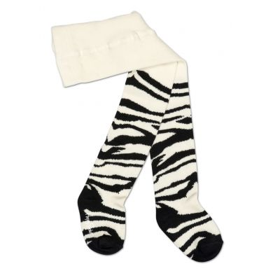 Černobílé punčocháče Happy Socks s dětským vzorem Zebra