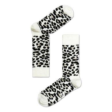 Černobílé ponožky Happy Socks se vzorem Leopard