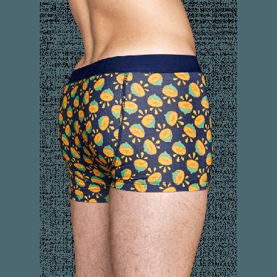 Modré boxerky Happy Socks s barevným vzorem Lime