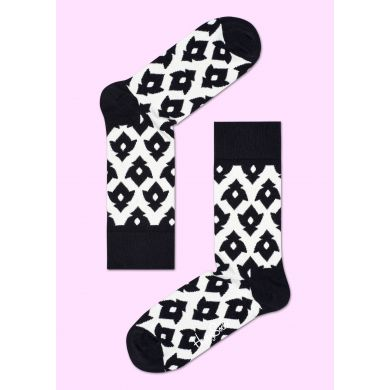 Černobílé ponožky Happy Socks, vzor Lily