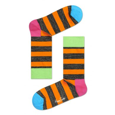 Barevné pruhované ponožky Happy Socks Lurex Stripe // kolekce Special Special