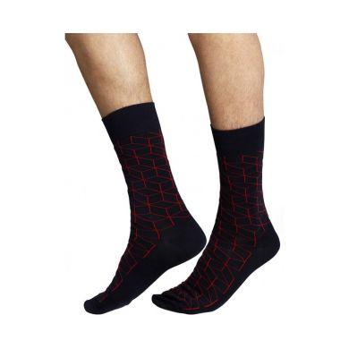 Modré ponožky Happy Socks s červeným vzorem Optic