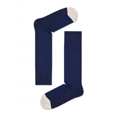 Modré ponožky Happy Socks se vzorem Moss Knit // kolekce Dressed