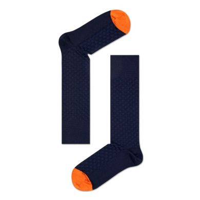 Tmavě modré ponožky Happy Socks, vzor Moss Knit // kolekce Dressed