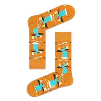 Žlté ponožky Happy Socks, vzor Mountain // kolekcia Special Special