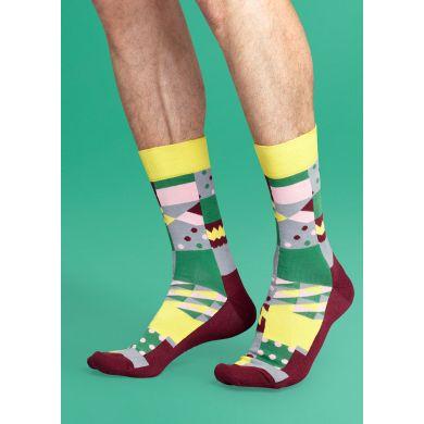 Barevné ponožky Happy Socks se čtverci, vzor Multisquare