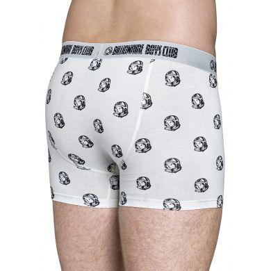 Bílé boxerky Happy Socks se vzorem Astronaut // kolekce Billionare Boys Club