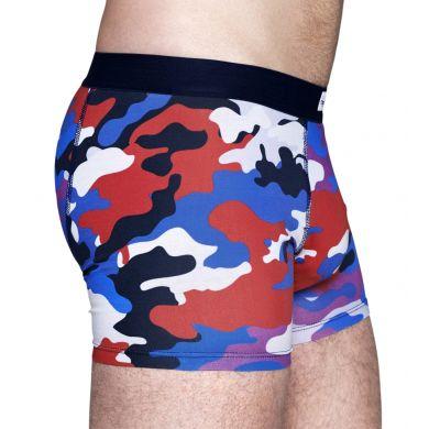 Barevné boxerky Happy Socks s maskáčovým vzorem Camo