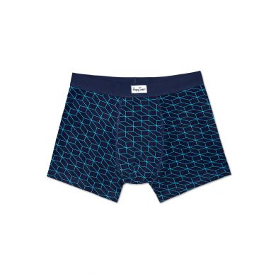 Modré boxerky Happy Socks s tyrkysovým vzorem Optic