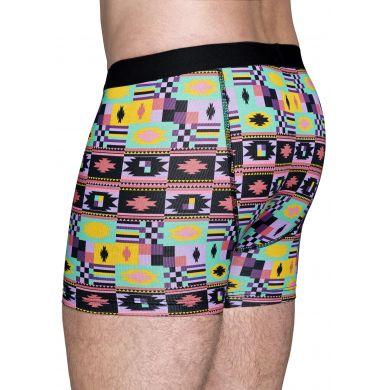 Barevné boxerky Happy Socks, vzor Patch Inca