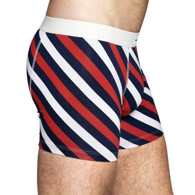 Barevné pruhované boxerky Happy Socks, vzor Polka