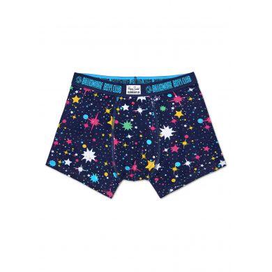 Modré boxerky Happy Socks s vesmírným vzorem Space // kolekce Billionare Boys Club