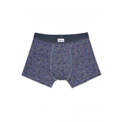 Šedivé boxerky Happy Socks s barevnými čárkami, vzor Sprinkles