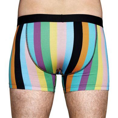 Barevné pruhované boxerky Happy Socks, vzor Stripe