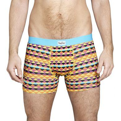 Barevné boxerky Happy Socks se zubatým vzorem Zig Zag