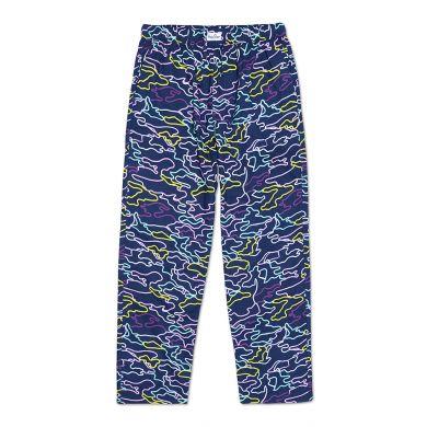 Modré kalhoty Happy Socks s barevným vzorem Electric