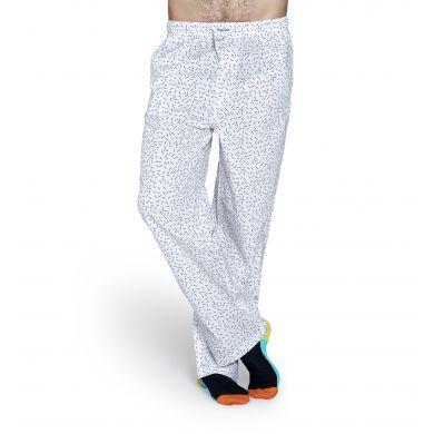Bílé kalhoty Happy Socks s černými čárkami, vzor Sprinkle