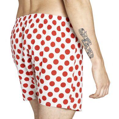 Bílé trenýrky Happy Socks s červenými puntíky, vzor Big Dot