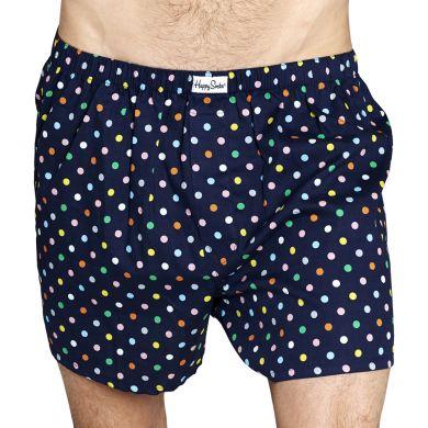 Modré trenírky Happy Socks s farebnými bodkami, vzor Dot