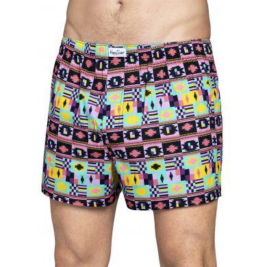 Barevné trenýrky Happy Socks, vzor Patch Inca