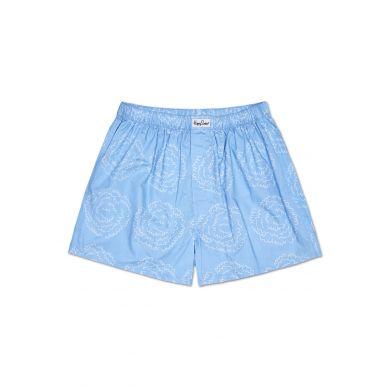 Modré trenýrky Happy Socks s vlnkami, vzor Poof