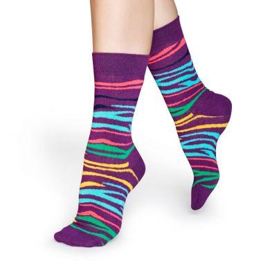Farebné ponožky Happy Socks se vzorom Multi Zebra