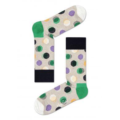 Světle šedé ponožky Happy Socks s barevnými puntíky, vzor Out Of Focus Dot