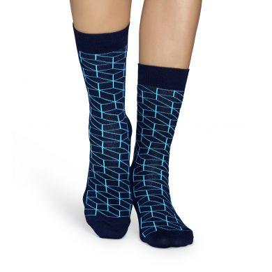Modré ponožky Happy Socks s tyrkysovým vzorem Optic