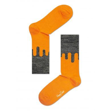 Oranžovo-šedé ponožky Happy Sokcs // kolekce Special Special