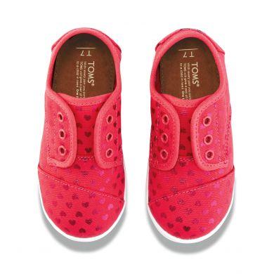 Dětské růžové tenisky TOMS Tiny Hearts Paseo
