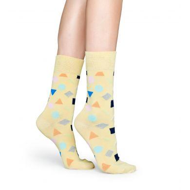 Žlté ponožky Happy Socks s farebným vzorom Play