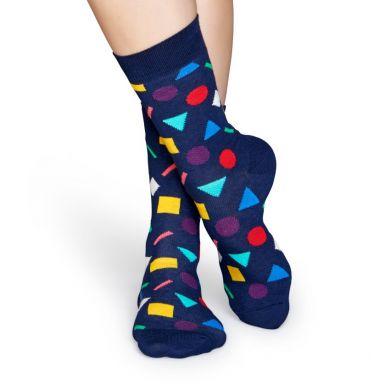 Modré ponožky Happy Socks s farebným vzorom Play