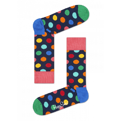 Darčekový box ponožiek a nohavičiek Happy Socks Combo Big Dot Blue - 2 páry