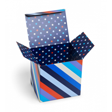 Gift Box Polka Stripes Blue