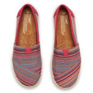 Raspberry Stripe Woven Women's Avalon Sneaker