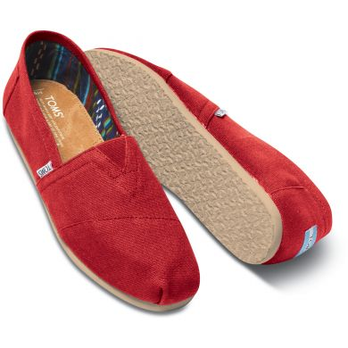 Pánske červené TOMS Core Classics Alpargata