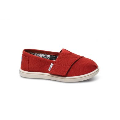Detské červené TOMS Tiny Classic Alpargata