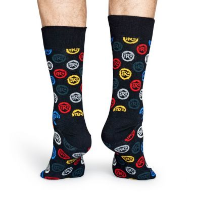 Farebné ponožky Happy Socks Logo // kolekcia Royal Enfield
