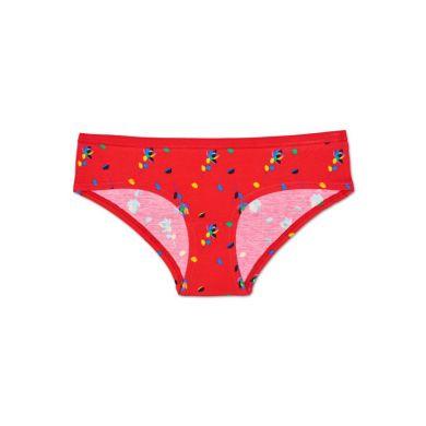 Červené nohavičky Happy Socks s farebným vzorom Rose Petal