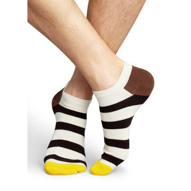 Nízké barevné ponožky Happy Socks s pruhy, vzor Stripe
