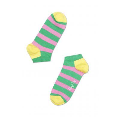 Nízke farebné ponožky Happy Socks s pruhy, vzor Stripe