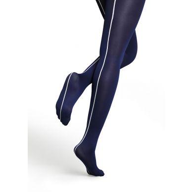 Modré punčocháče Happy Socks s bílým pruhem