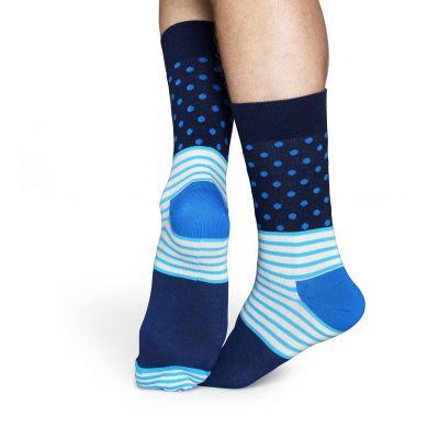 Modré ponožky Happy Socks se vzorom Stripe Dot